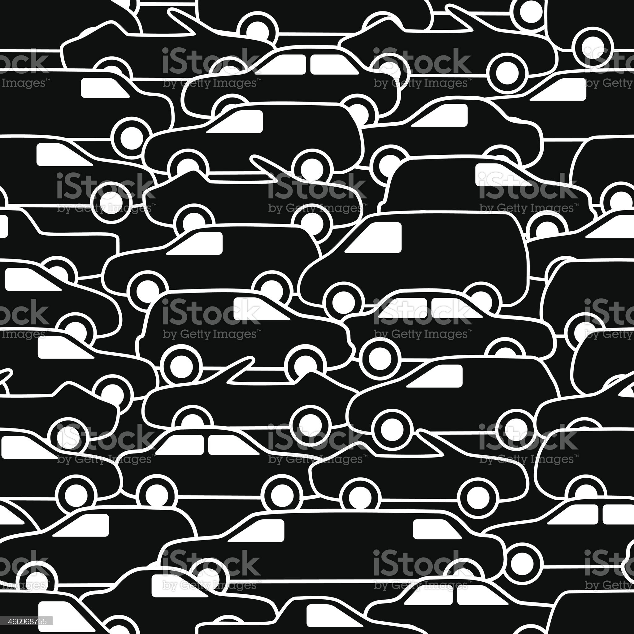Seamless pattern with cars royalty-free stock vector art