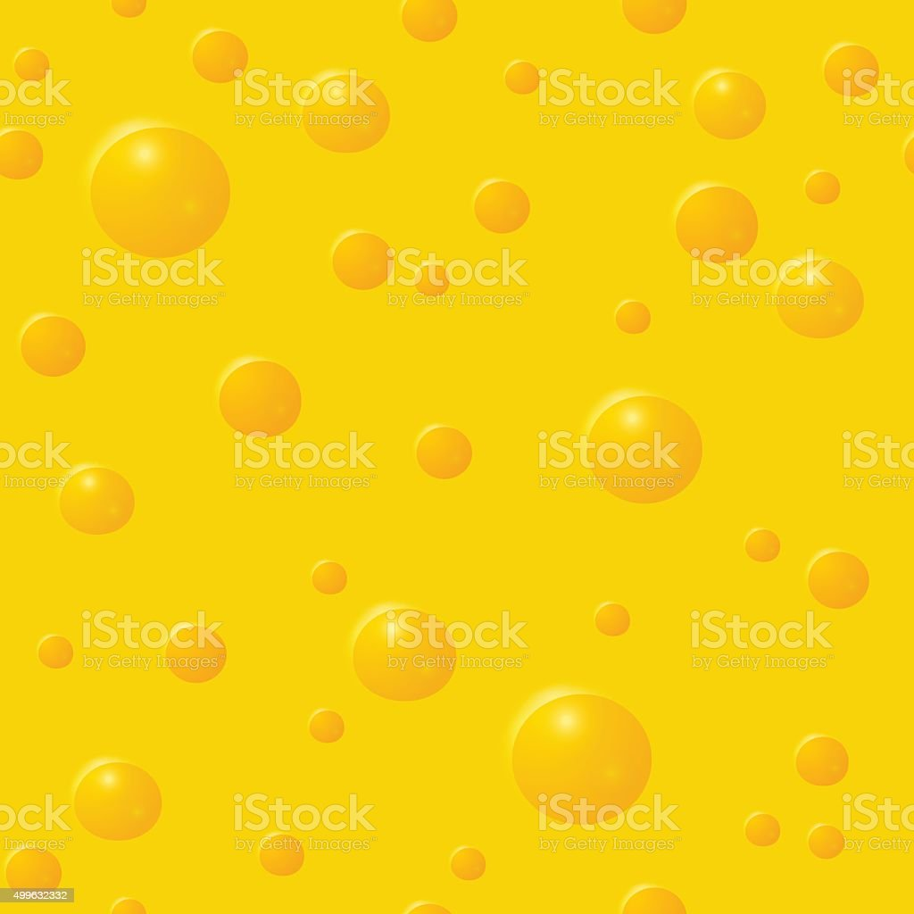 Seamless pattern with cheese texture vector art illustration
