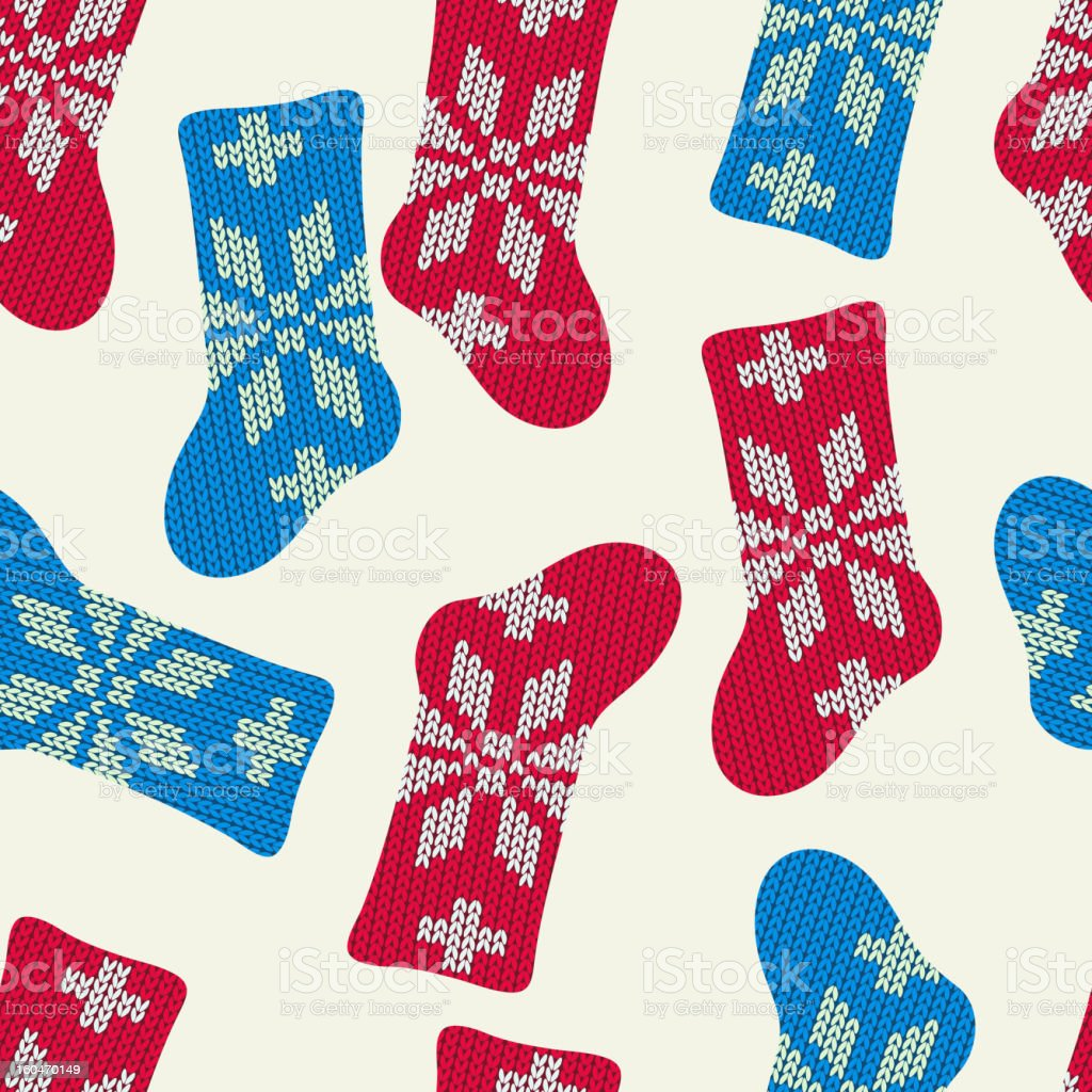 Seamless pattern with Christmas socks royalty-free stock vector art