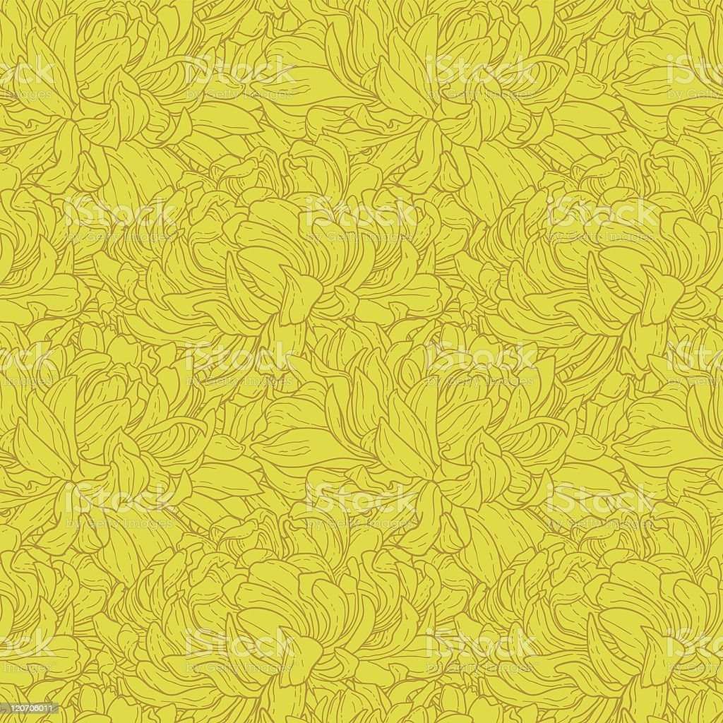 Seamless pattern with chrysanthemum royalty-free stock vector art