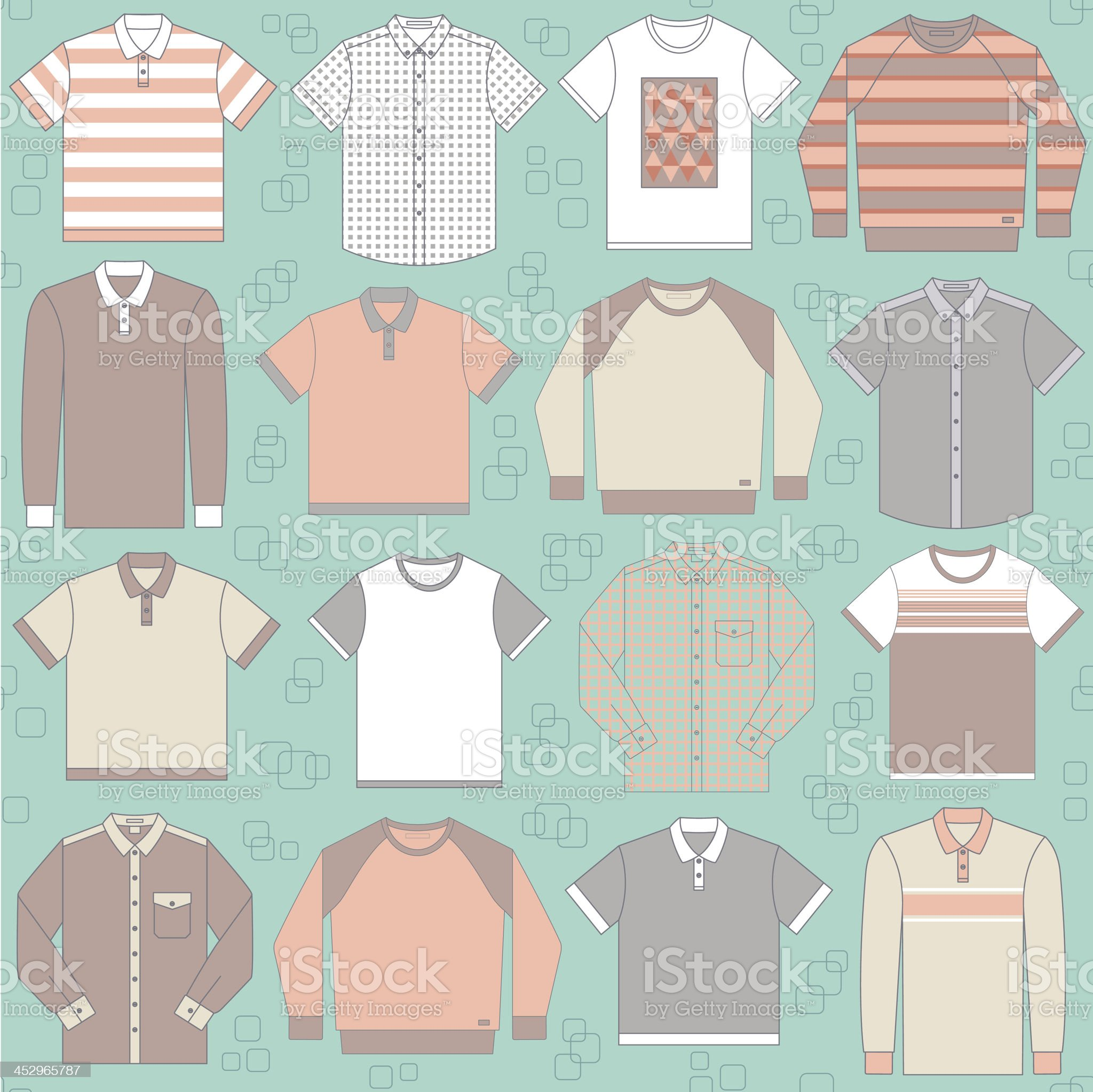 seamless pattern with clothing for men royalty-free stock vector art