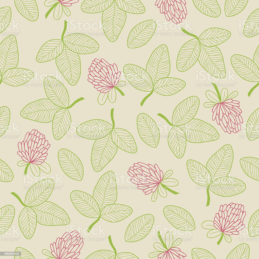 Seamless pattern with clover royalty-free stock vector art