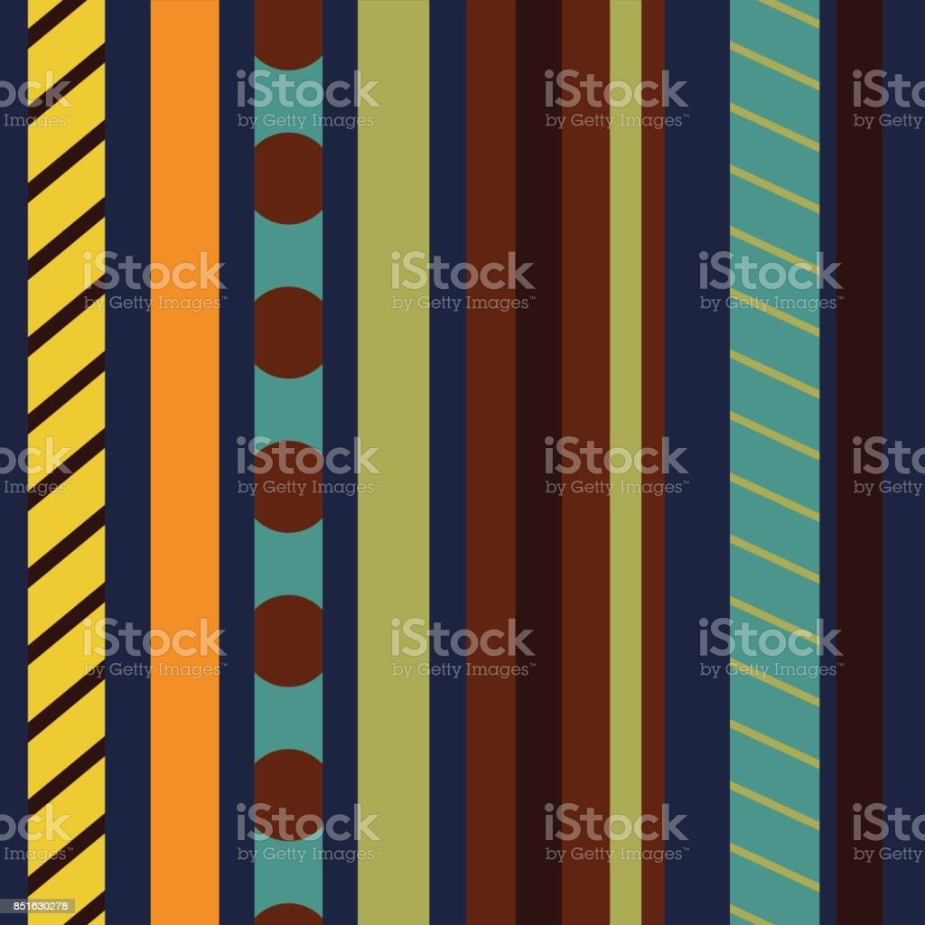 Seamless pattern with colored vertical stripes. vector art illustration