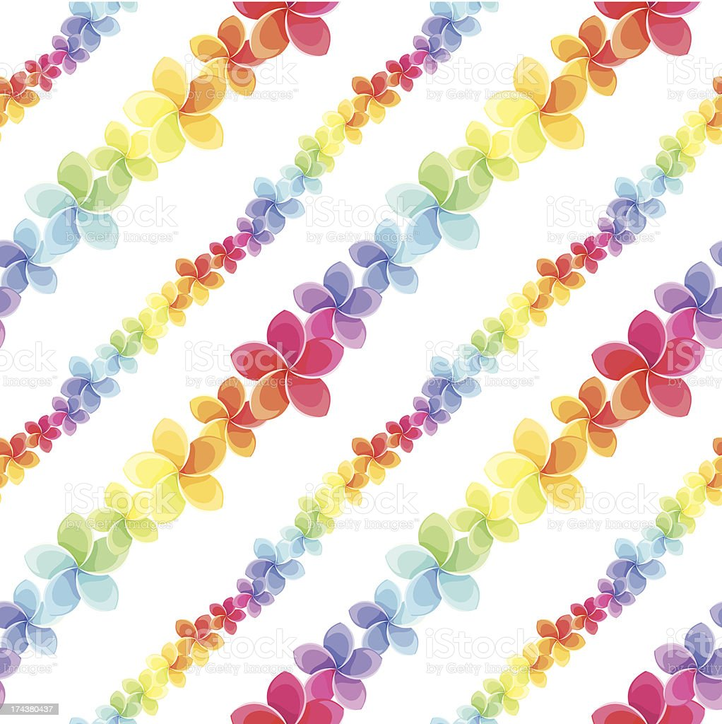 Seamless pattern with colorful flowers. Vector illustration. royalty-free stock vector art