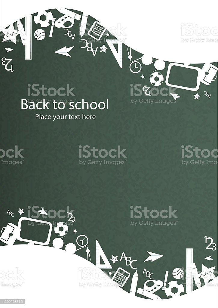 seamless pattern with colorful school icons on background vector art illustration