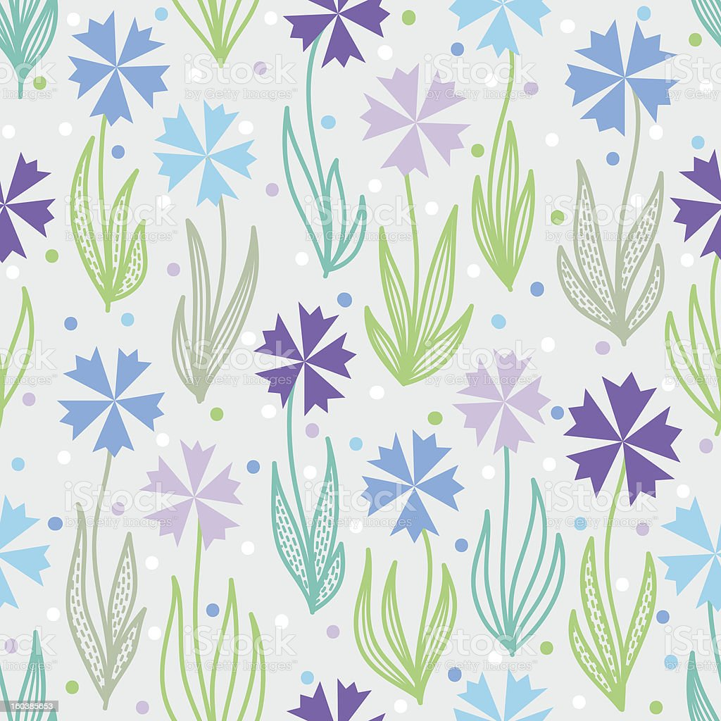 Seamless pattern with cornflowers royalty-free stock vector art