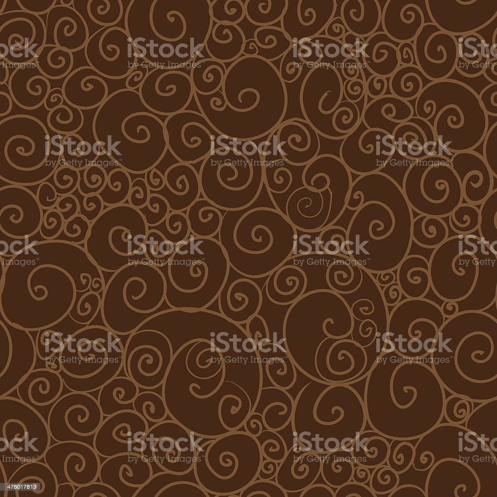 Seamless pattern with curls royalty-free stock vector art