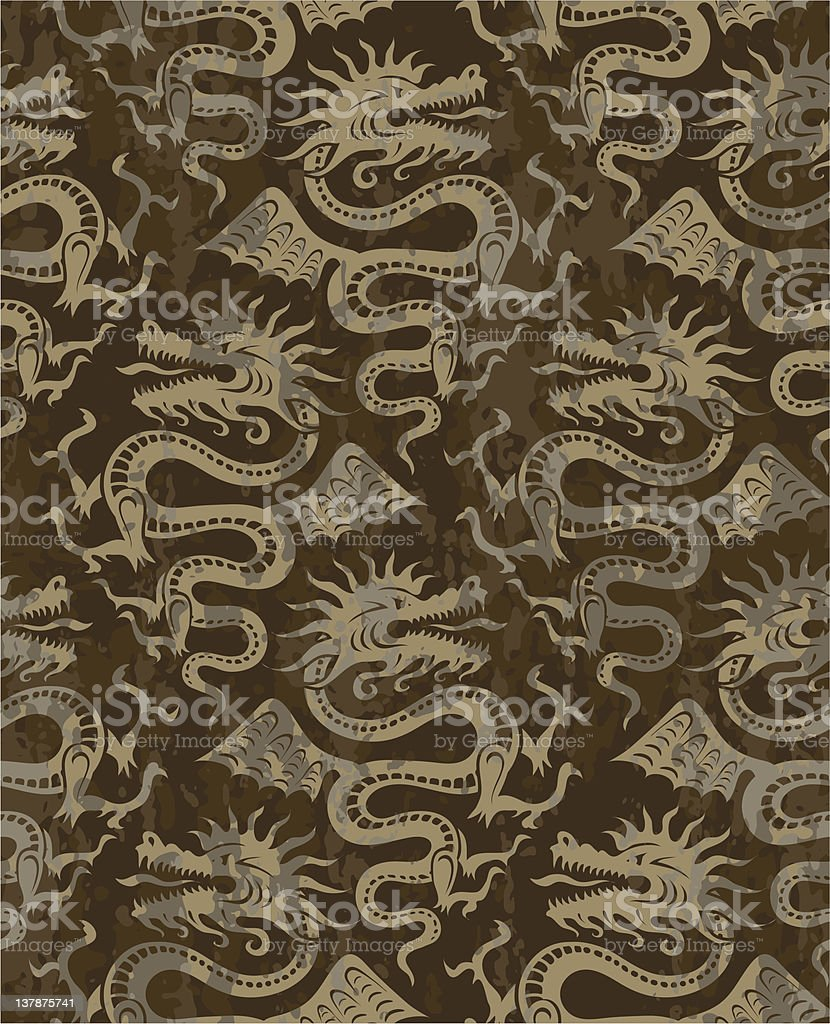 seamless pattern with dragons royalty-free stock vector art