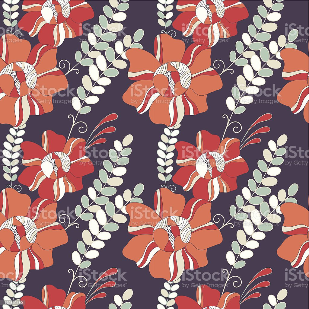 Seamless pattern with fantastic flowers. royalty-free stock vector art