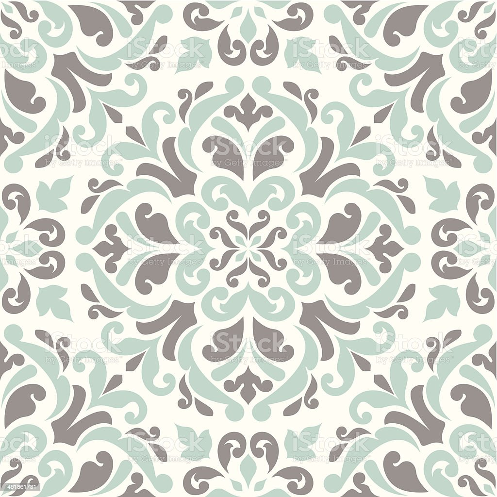 Seamless pattern with floral elements. vector art illustration