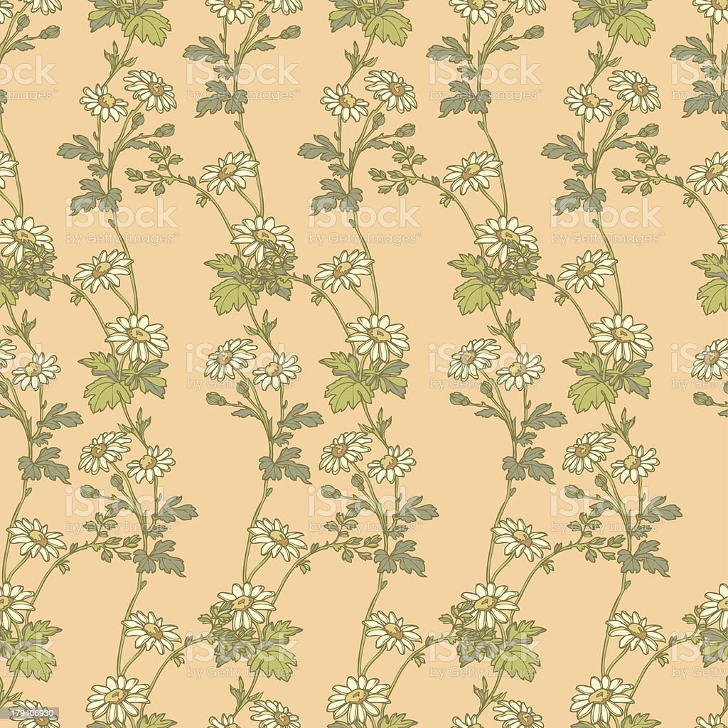 Seamless pattern with flowers daisies royalty-free stock vector art