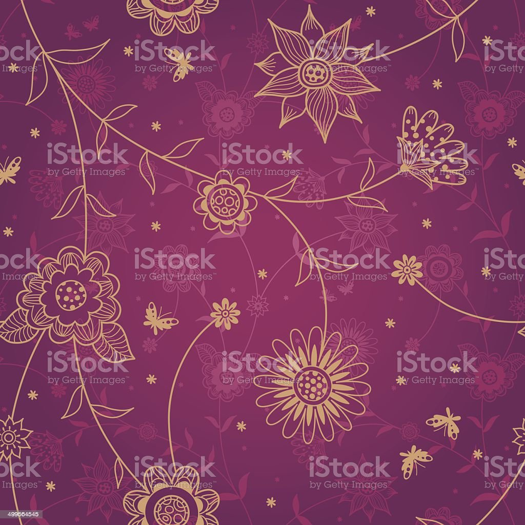 Seamless pattern with flowers. royalty-free stock vector art