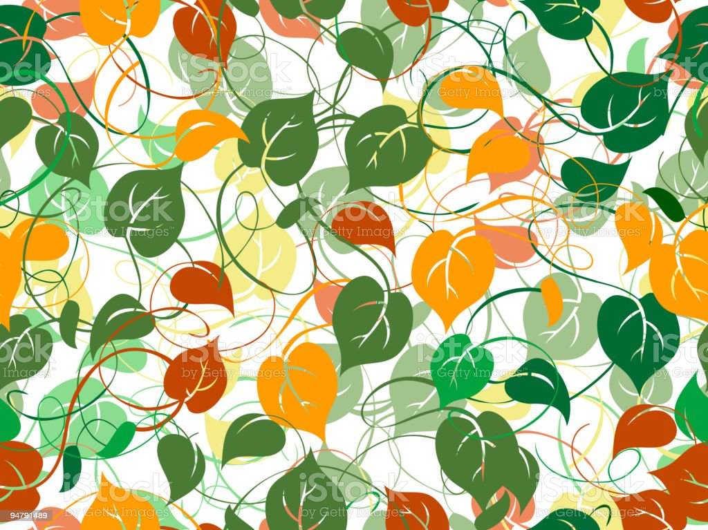 Seamless pattern with foliage royalty-free stock vector art
