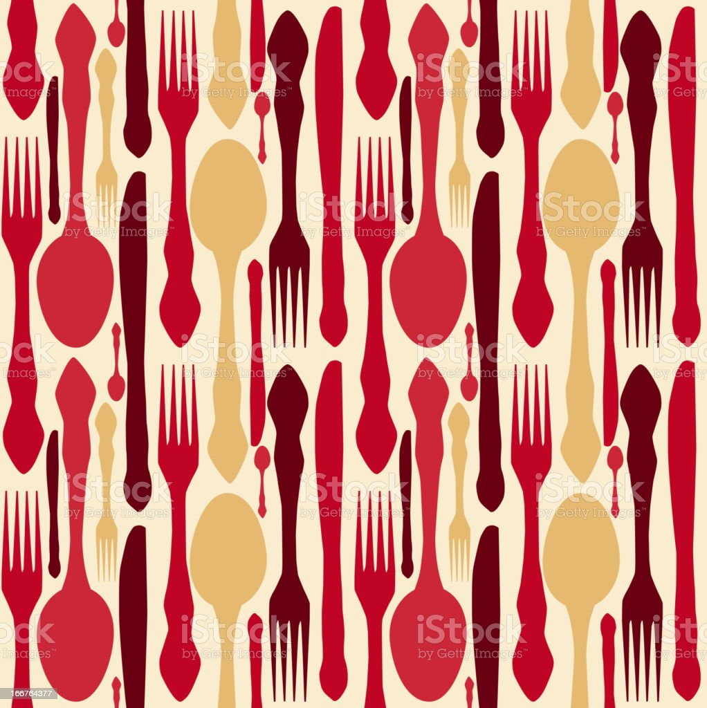 seamless pattern with forks, spoons end knifes. Vector illustration. royalty-free stock vector art