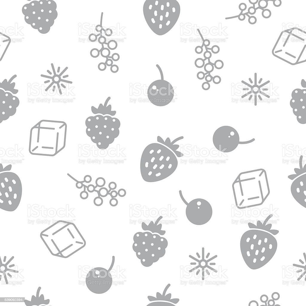 Seamless pattern with frozen berries. vector art illustration