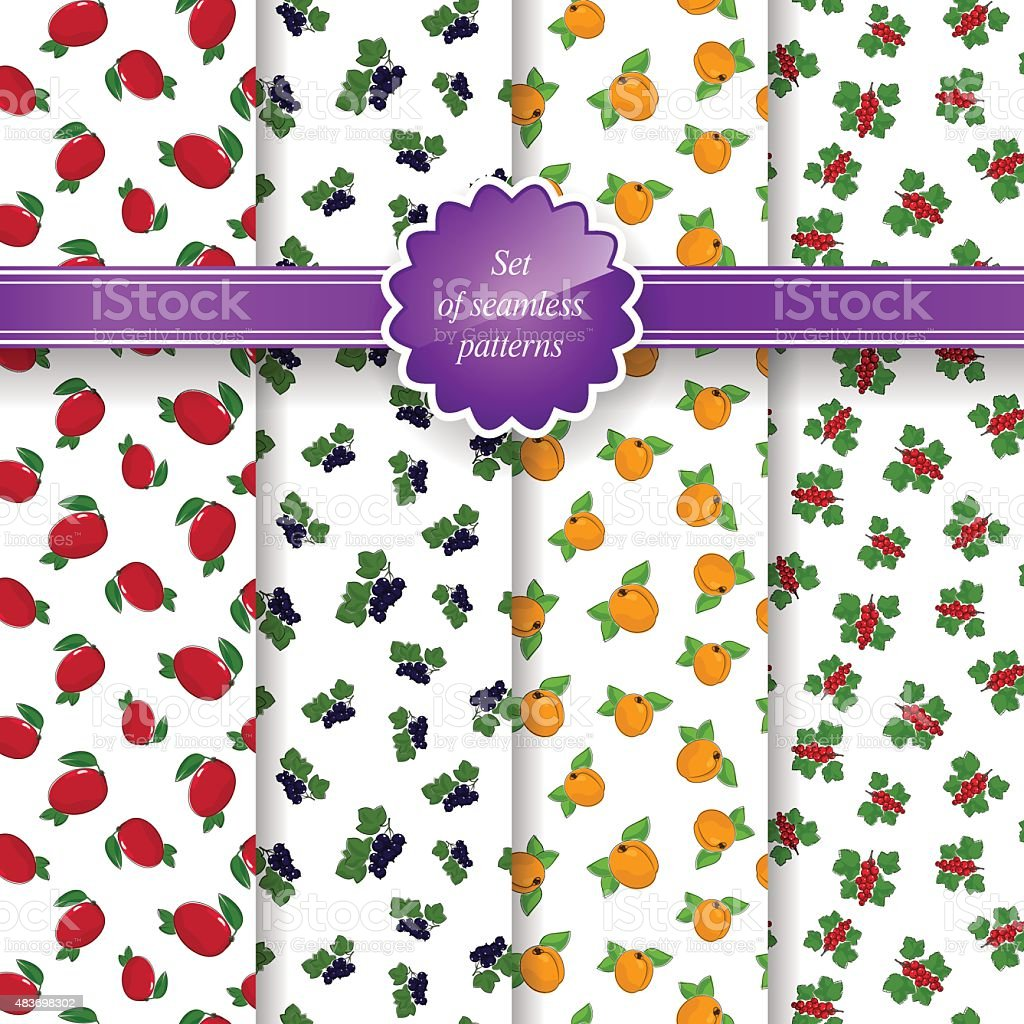 Seamless Pattern with Fruit Background vector art illustration
