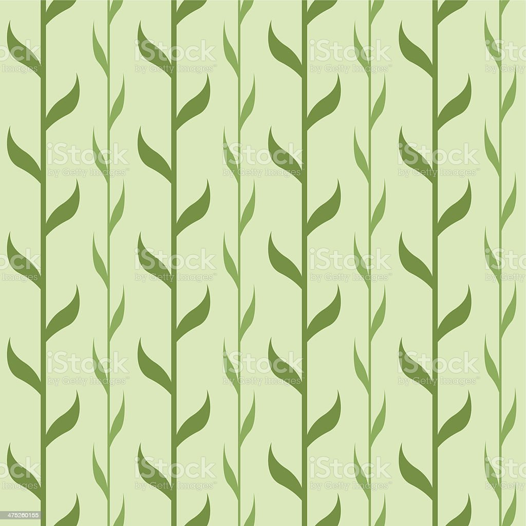 Seamless pattern with green branches royalty-free stock vector art