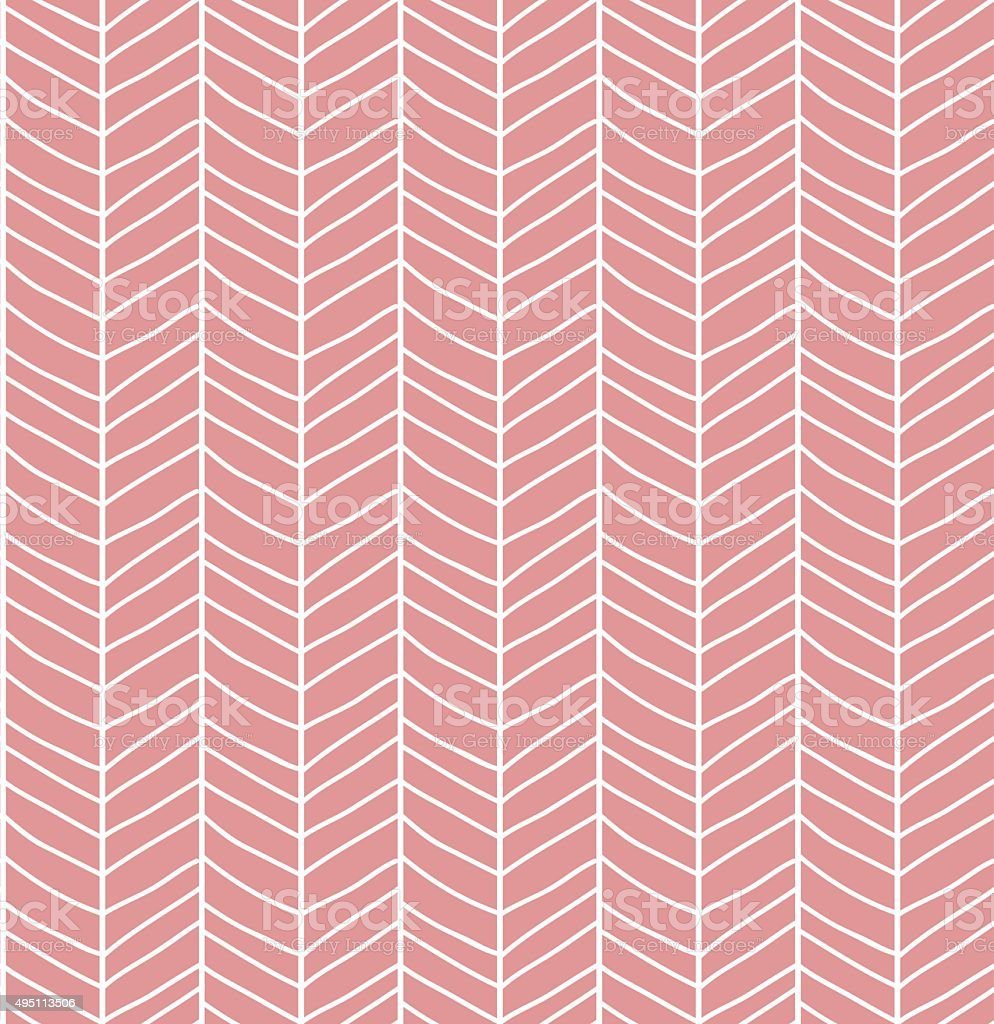 Seamless pattern with hand drawn chevron line grid vector art illustration