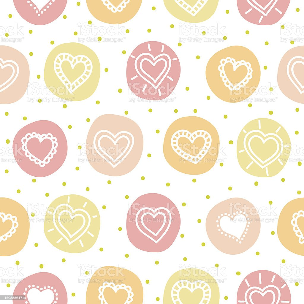 Seamless pattern with hearts royalty-free stock vector art