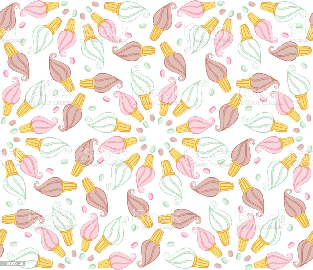 Seamless pattern with icecream royalty-free stock vector art