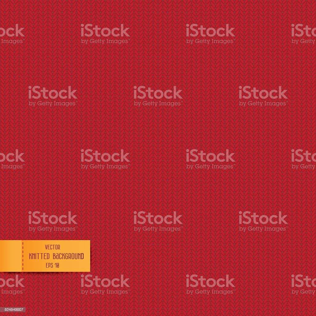 Seamless pattern with knitted background. Vector 10 EPS vector art illustration