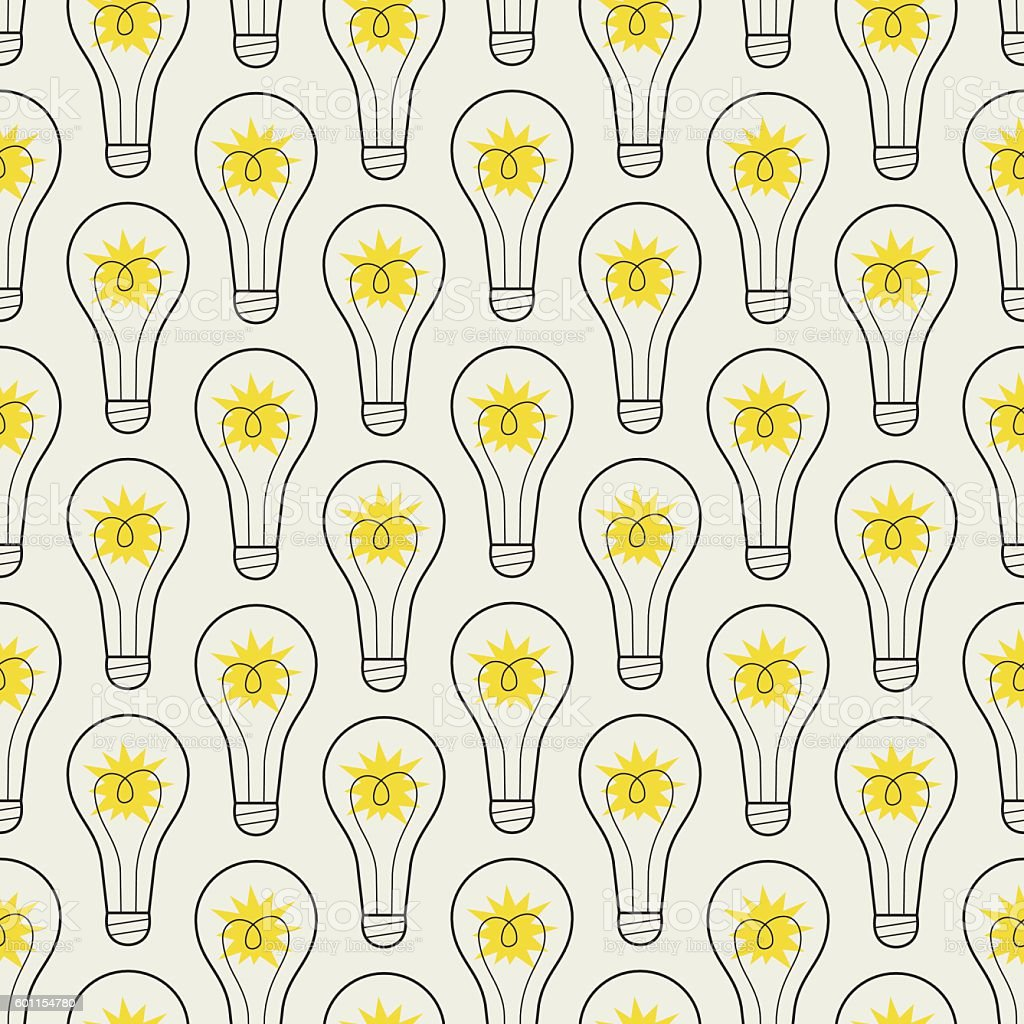 Seamless pattern with lamps vector art illustration