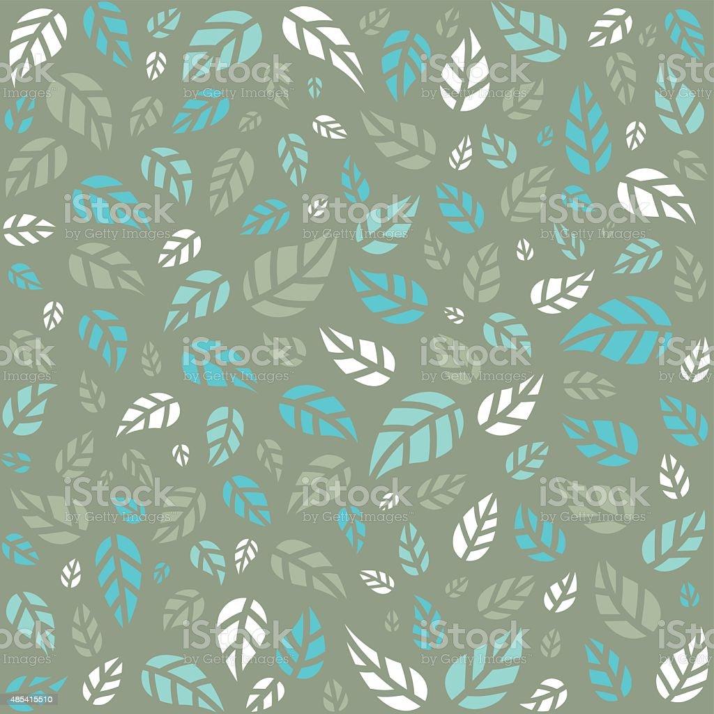 Seamless pattern with leaves - Illustration vector art illustration