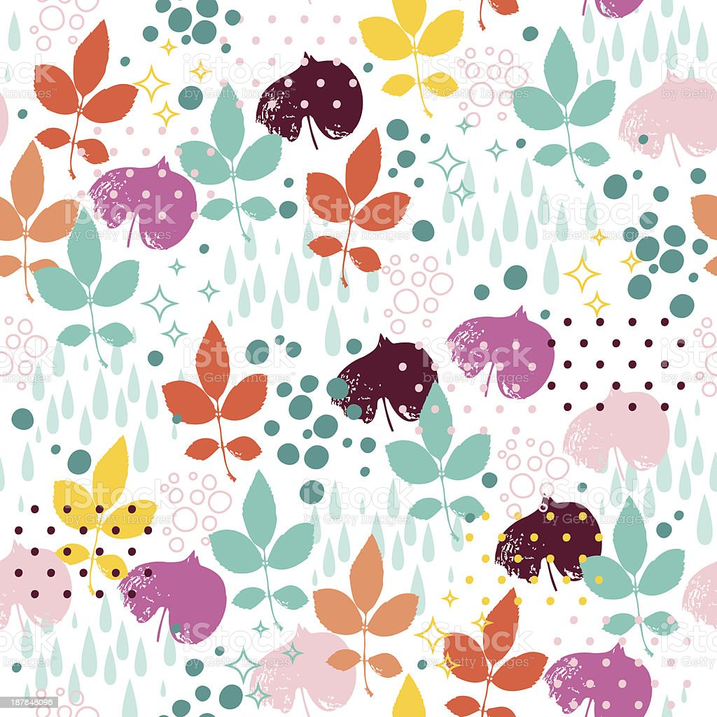 Seamless pattern with leaves royalty-free stock vector art