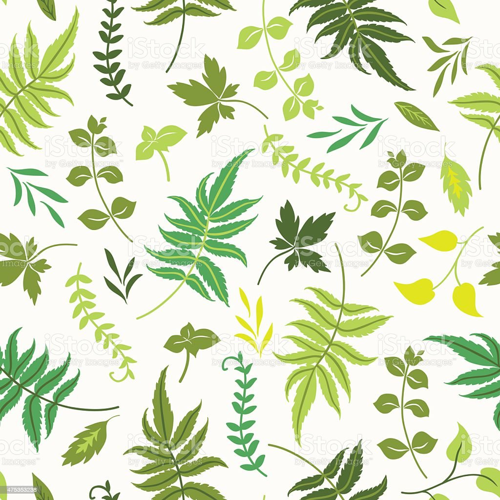 Seamless pattern with leaves. vector art illustration