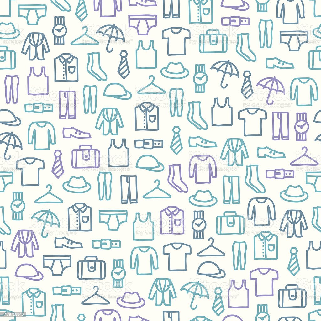 Seamless pattern with man clothes royalty-free stock vector art