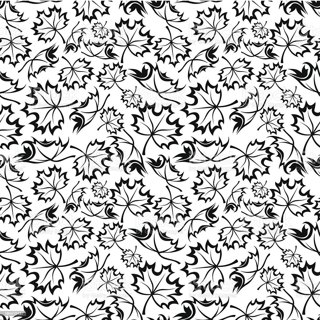 Seamless pattern with maple leaves. Vector illustration. royalty-free stock vector art