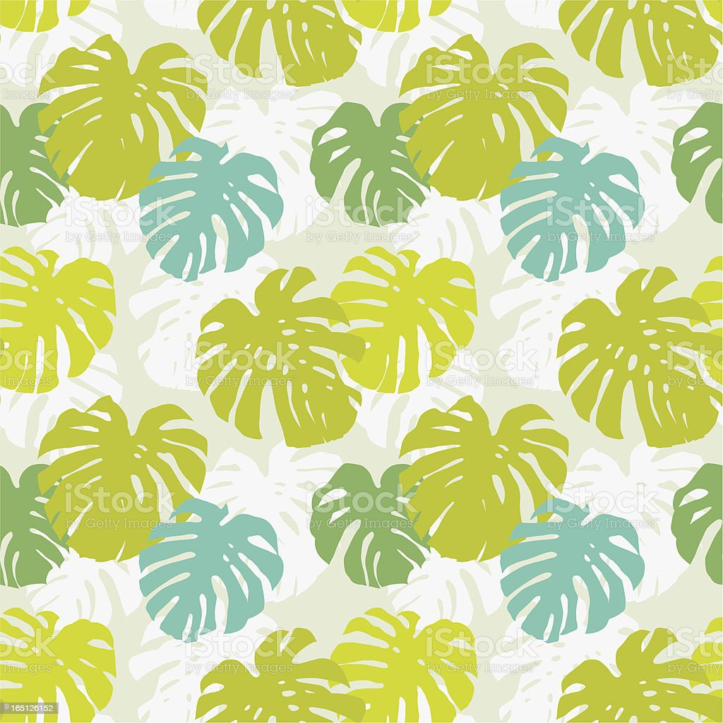 Seamless pattern with monstera leafs royalty-free stock vector art
