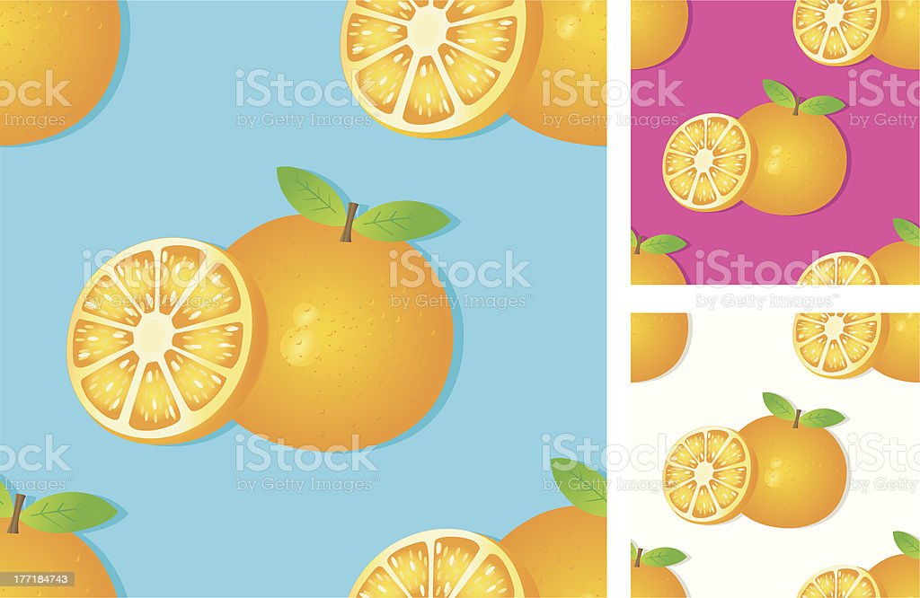 seamless pattern with oranges. royalty-free stock vector art