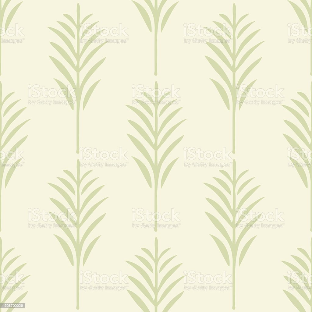 Seamless pattern with palm leaves vector art illustration