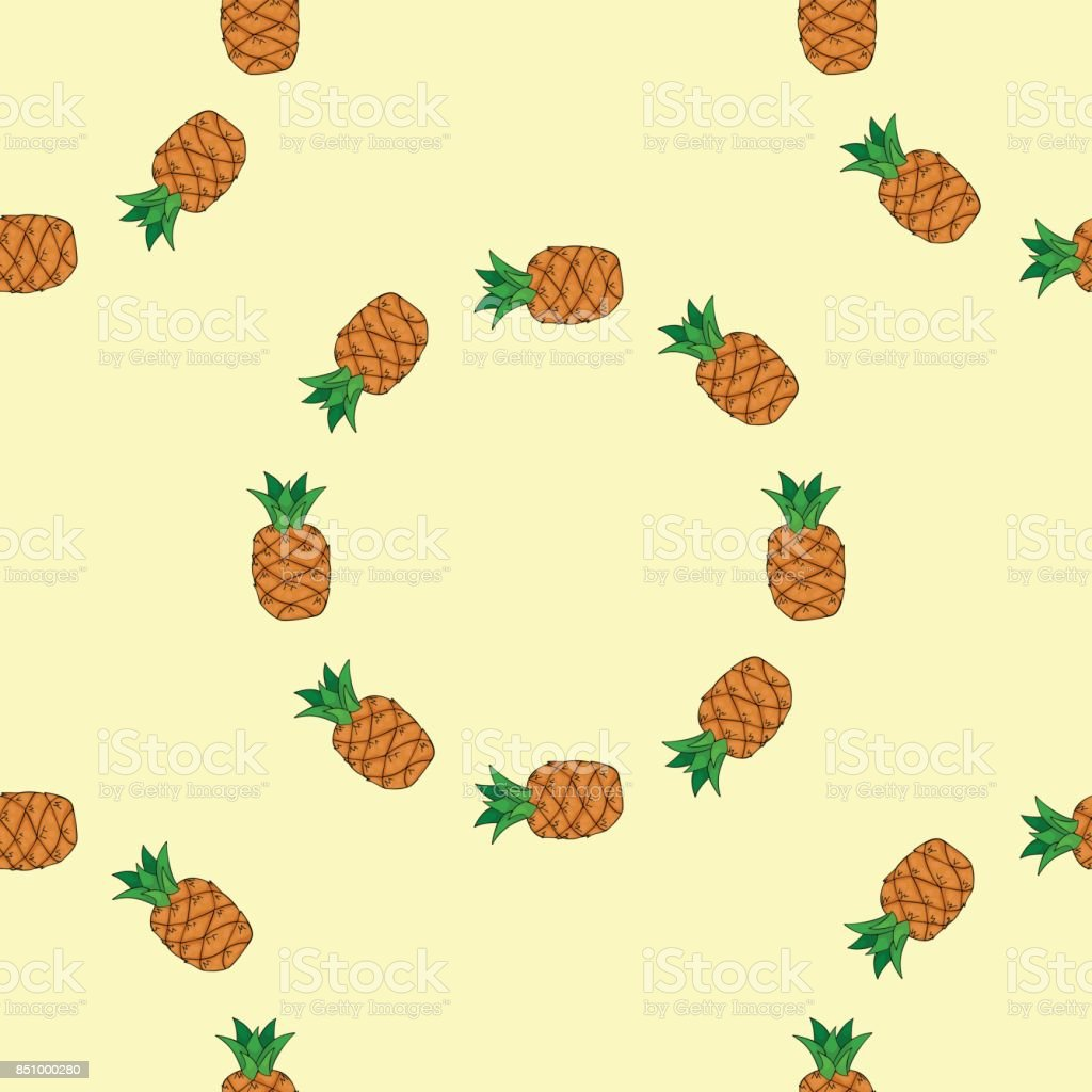 Seamless pattern with pineapple. vector art illustration