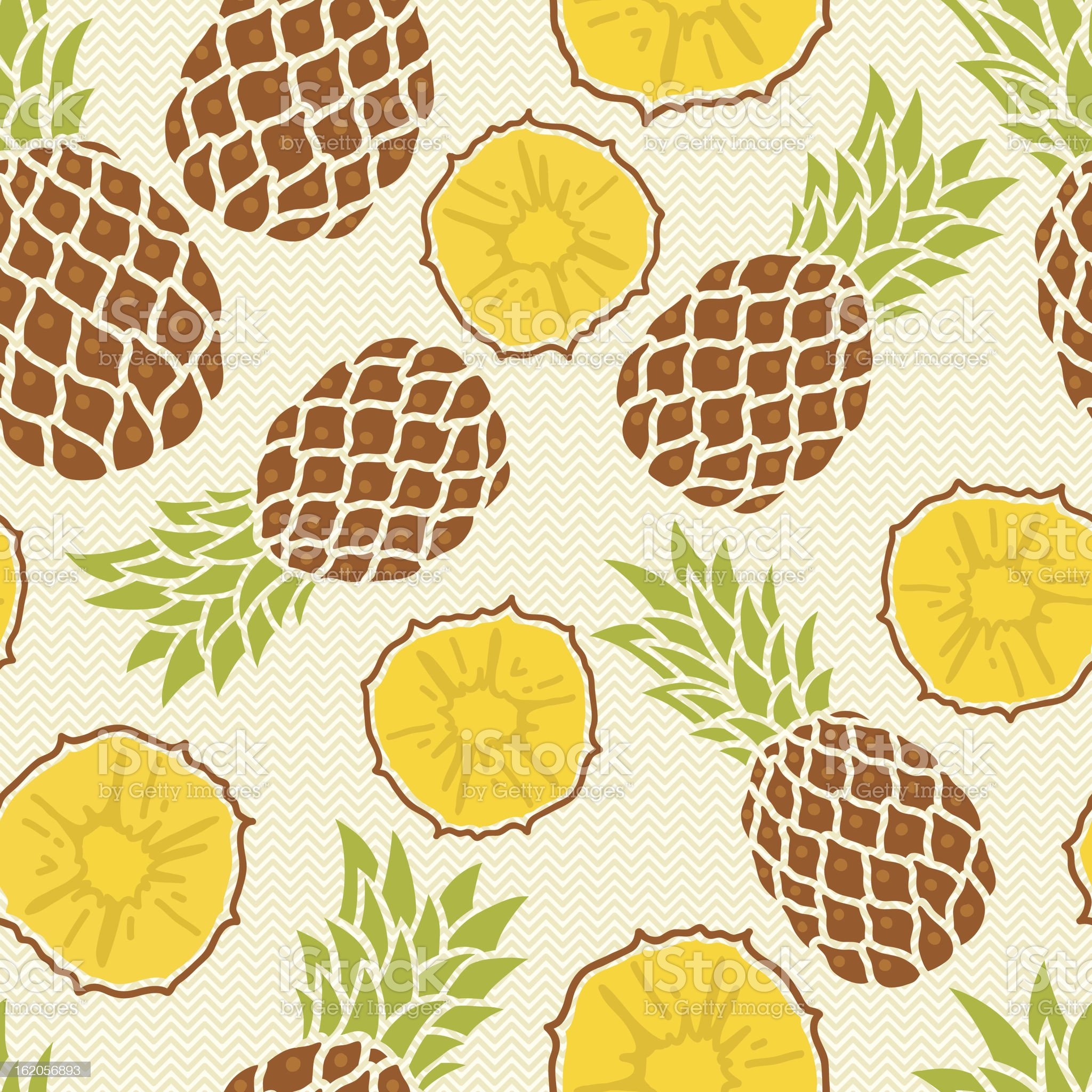 Seamless pattern with pineapples royalty-free stock vector art