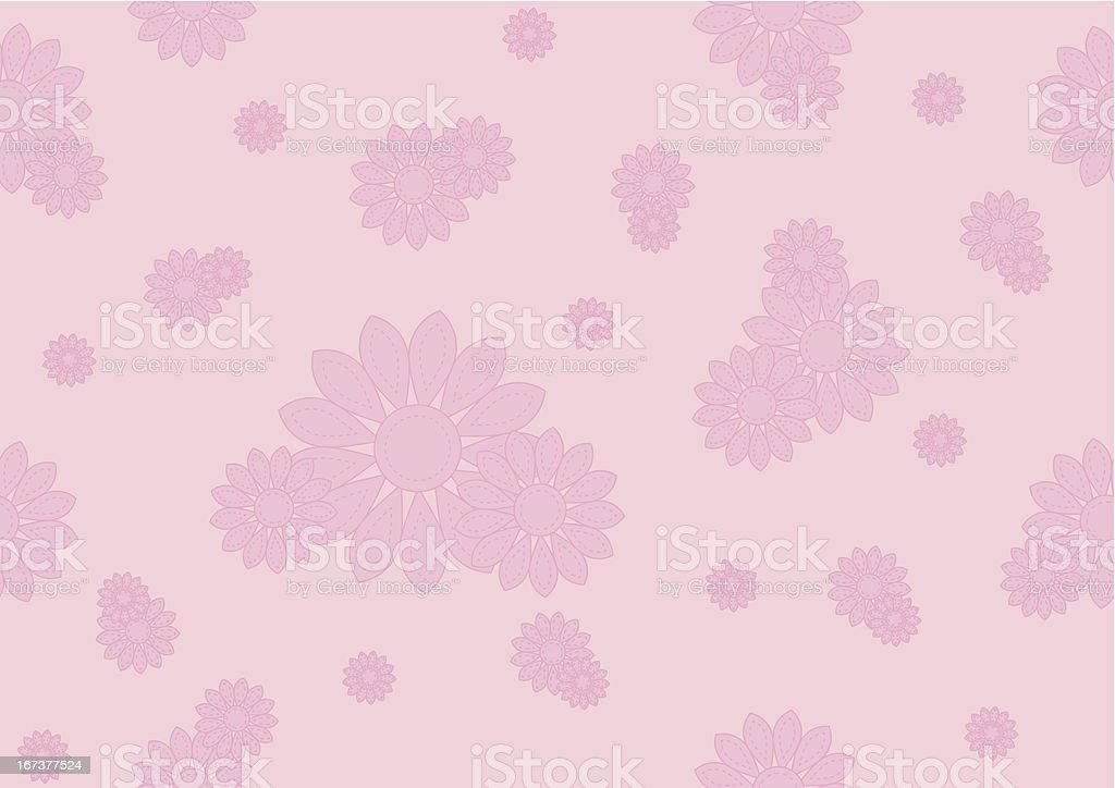 seamless pattern with pink flowers royalty-free stock vector art