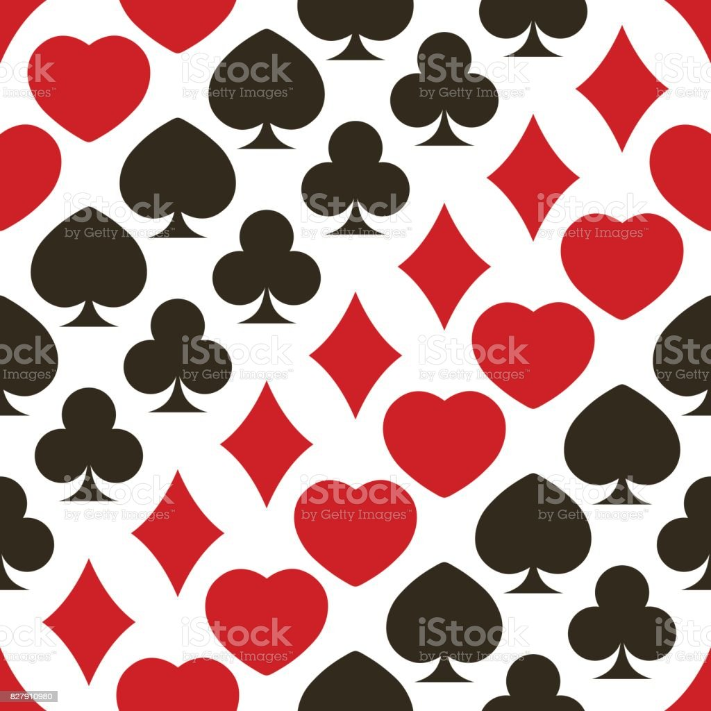 Seamless pattern with playing cards symbols stock vector art seamless pattern with playing cards symbols royalty free stock vector art biocorpaavc