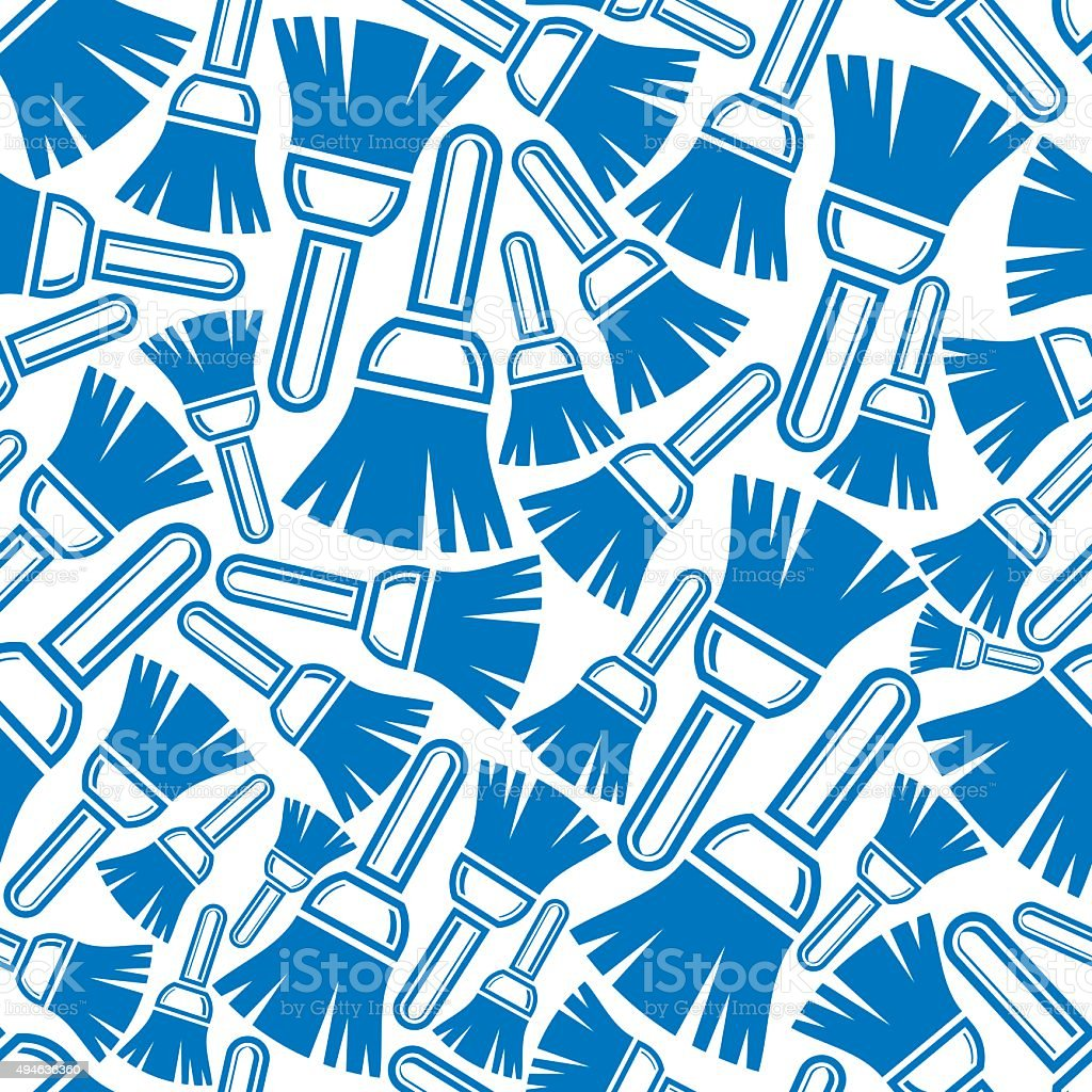 Seamless pattern with renovation and repair instruments, brushes vector art illustration