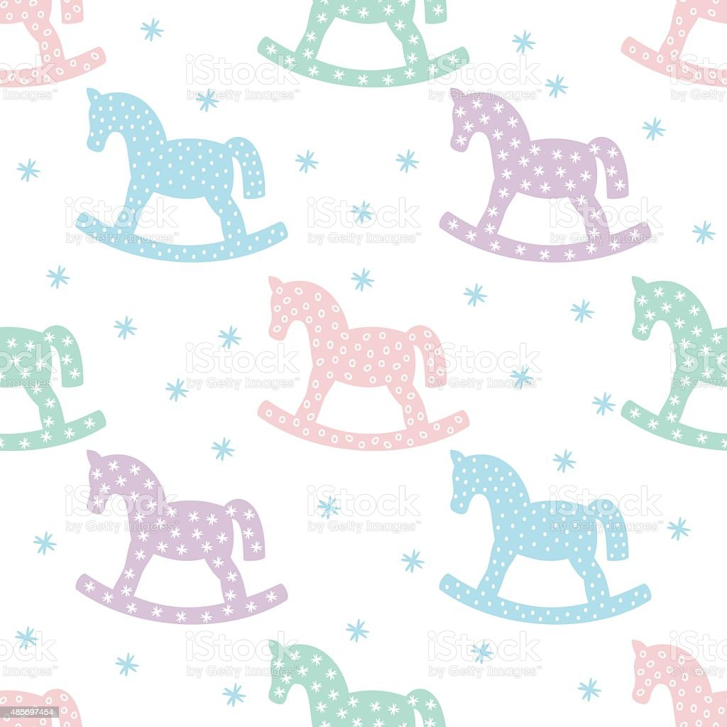 horses cute baby shower background stock vector art 485697454 istock