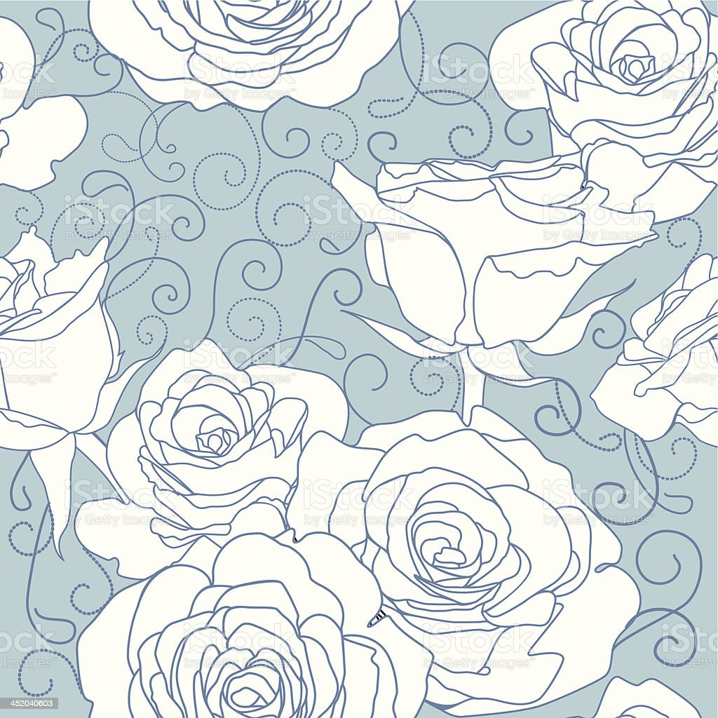 Seamless pattern with roses flowers. royalty-free stock vector art