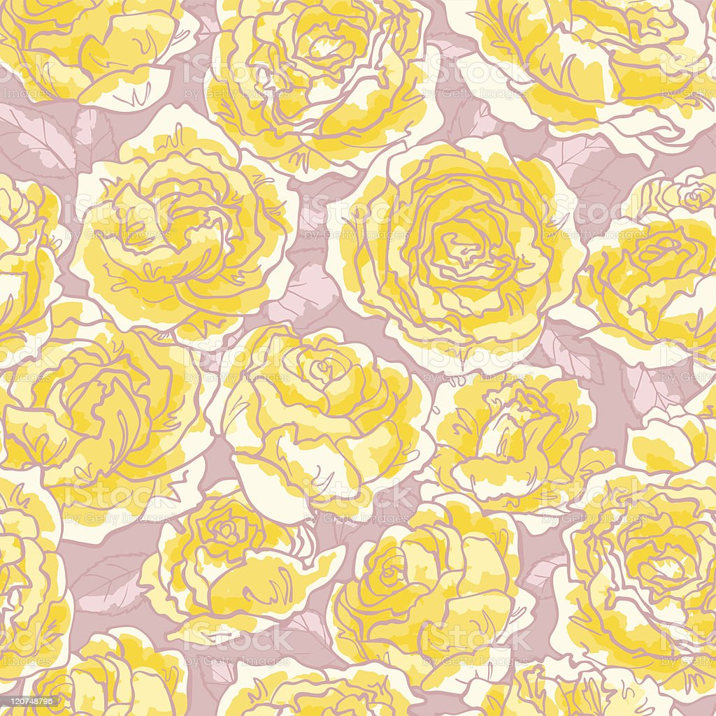 Seamless pattern with roses royalty-free stock vector art