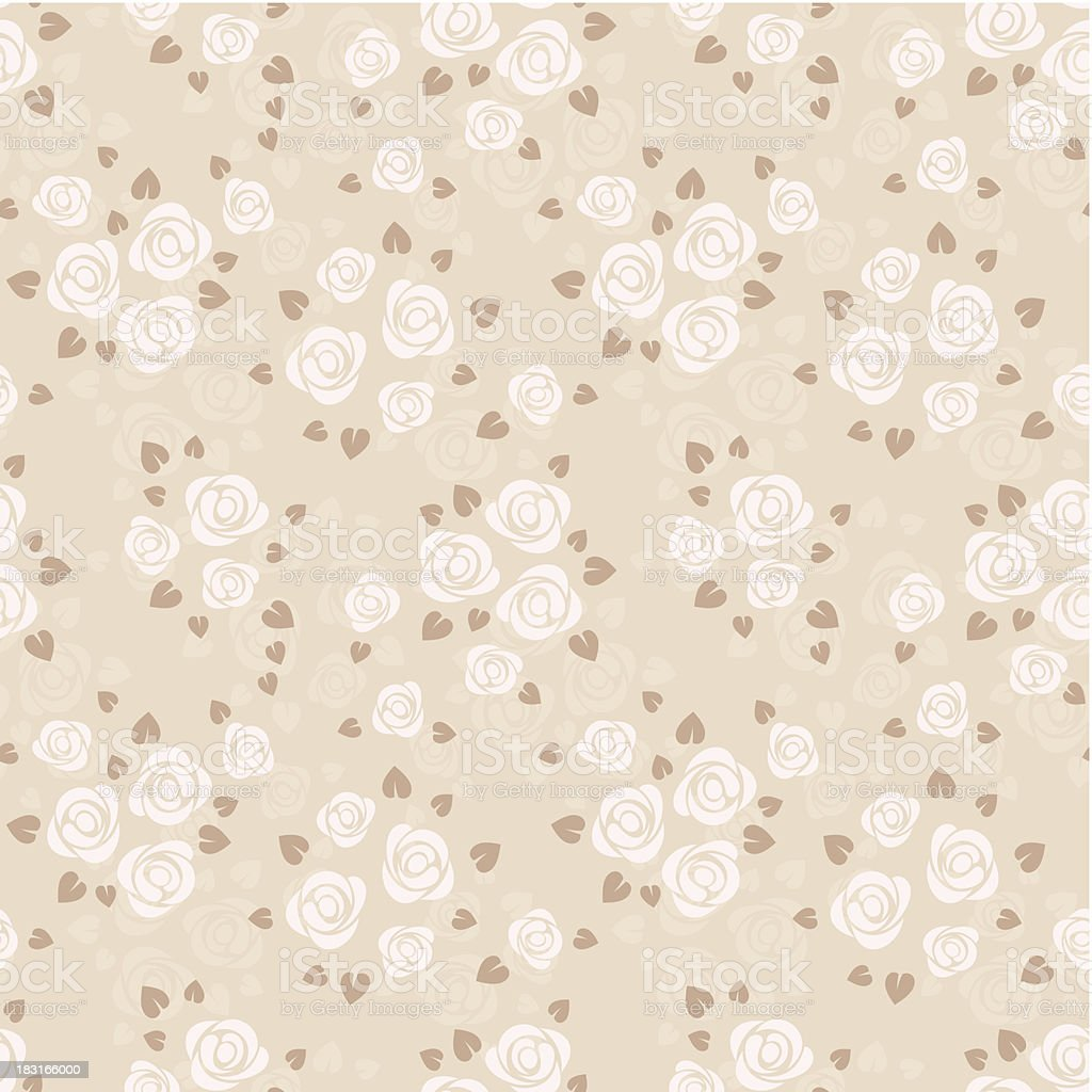 Seamless pattern with roses. Vector illustration. royalty-free stock vector art