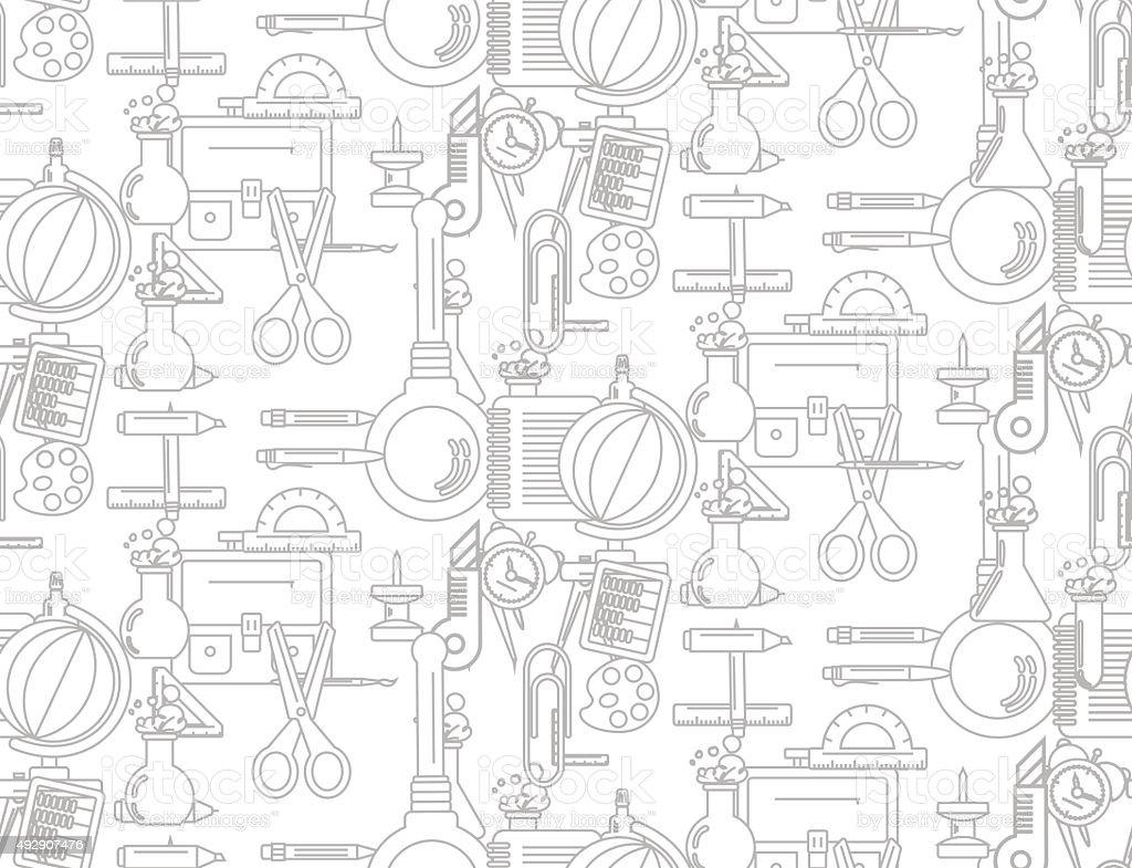 Patrón Sin Costuras Con Suministros Escolares Illustracion Libre de ...