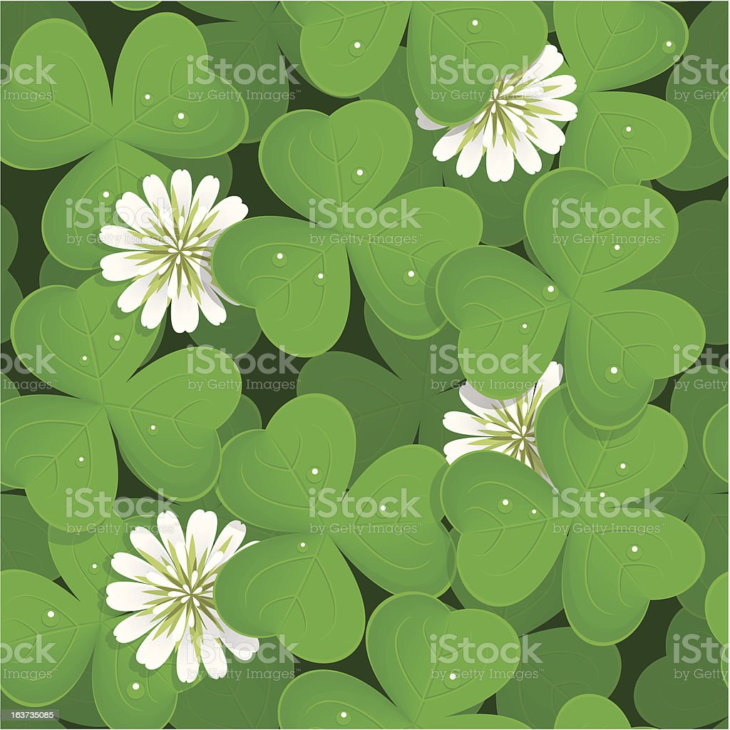 Seamless pattern with shamrock royalty-free stock vector art