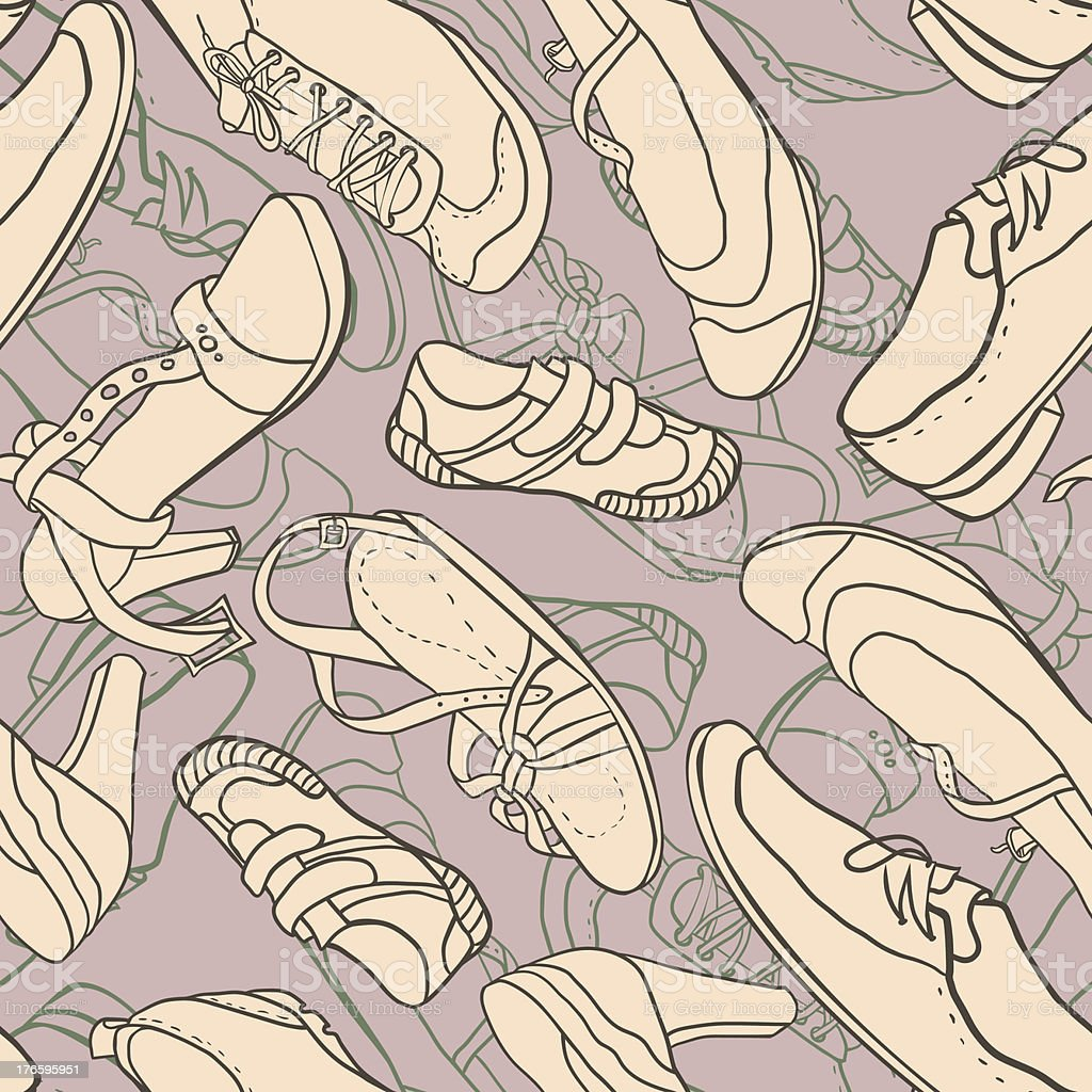 Seamless pattern with shoes royalty-free stock vector art