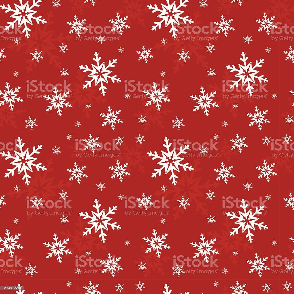 Seamless pattern with snowflakes. Vector illustration. vector art illustration