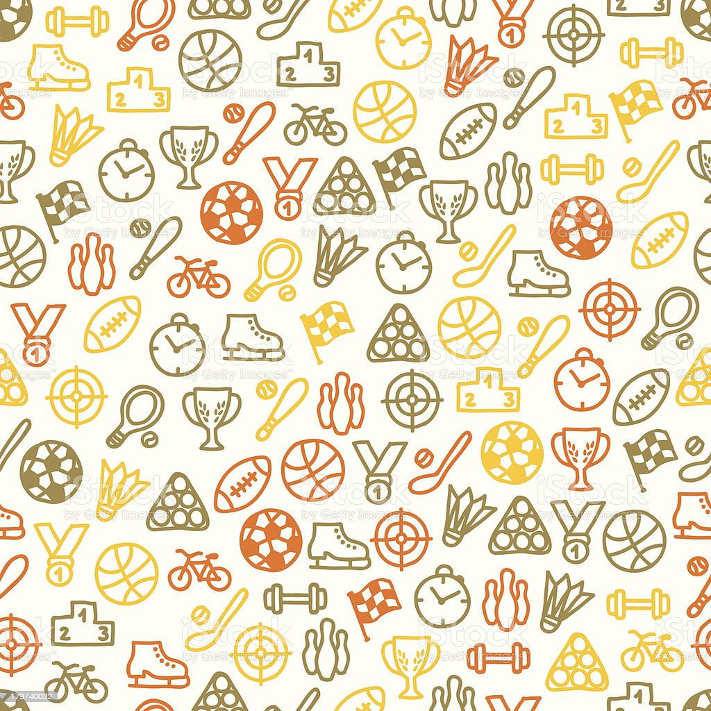 Seamless pattern with sport elements royalty-free stock vector art