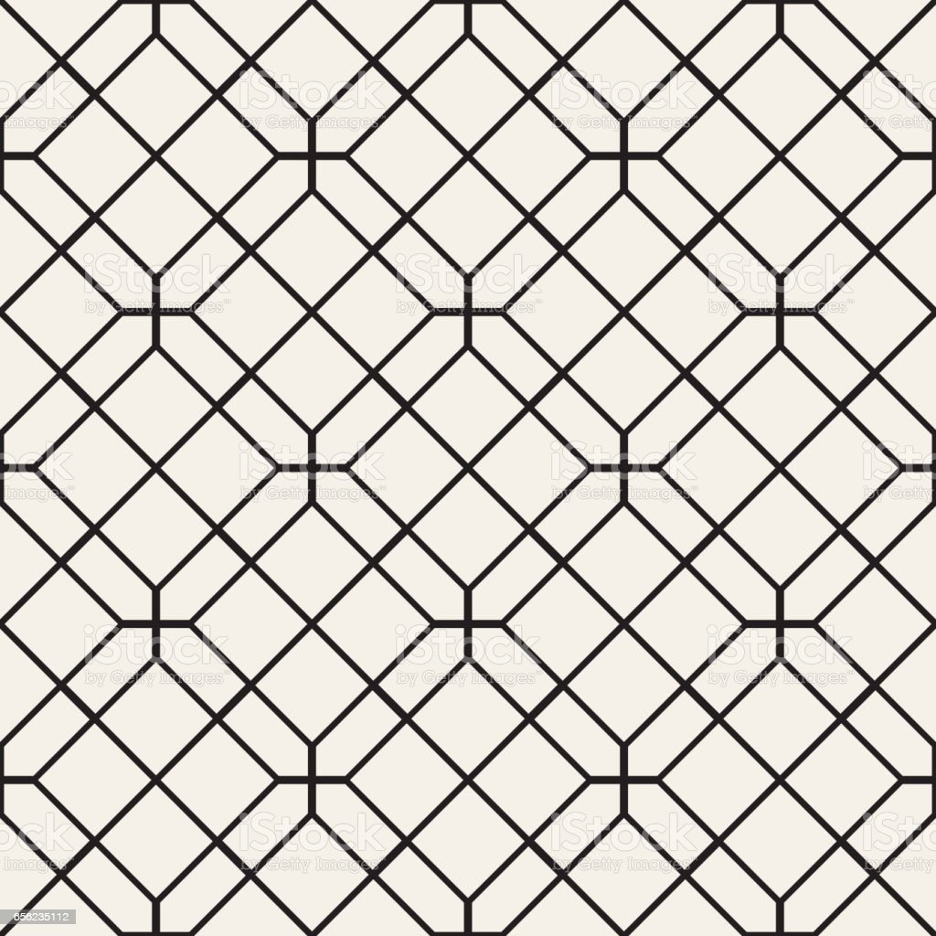 Seamless Pattern With Squares. Vector Stylish Geometric Linear Structure vector art illustration