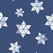 seamless pattern with star of David traditional Jewish symbol